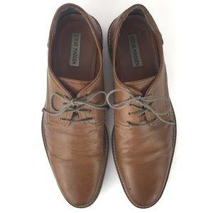 STEVE MADDEN Flynn Distressed Leather Dress Shoe